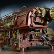 The steampunk mechanism. — Stockfoto
