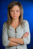 The serious girl — Stock Photo