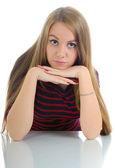 若い女性の肖像画. — ストック写真