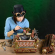 Stock Photo: Typewriter repair.