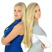 Dwie blondynki — Zdjęcie stockowe