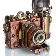 Stock Photo: Copper Photo camera.