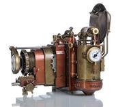 Copper Photo camera. — Stock Photo