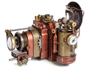 Camera steampunk — Stock Photo