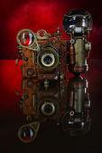 Camera steampunk. — Stock Photo