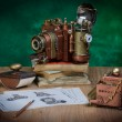 Camera steampunk — Stock fotografie