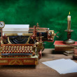 Steampunk Typewriter. — Stock Photo