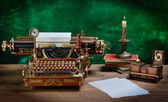 Máquina de escrever steampunk. — Foto Stock
