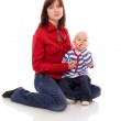 Mother playing with daughter — Stock Photo #5717337