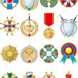 Set of various medals — Stock Vector