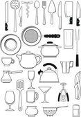 Set of kitchen utensils — Stock Vector