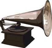古い古い蓄音機 — ストックベクタ