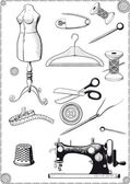 Sewing Accessories — Stock Vector