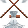 Two crossed Celtic ax — Stock Vector #46024403