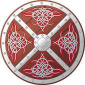 華やかなケルト族の盾 — ストックベクタ