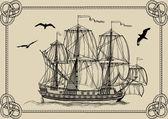Old ship — Stock Vector