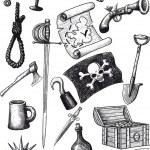 Big Pirate Set — Stock Vector #47938651