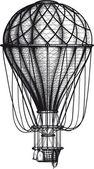 Old Air Ballon — Stock Vector