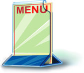 Plexiglas plate menu — Stockvector