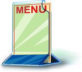 Plexiglas plate menu — 图库矢量图片