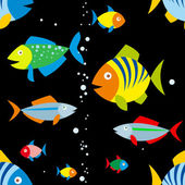 Background of colorful fish — Stock Vector