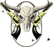 狂野西部的吉祥物 — 图库矢量图片
