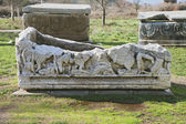 Ancient sarcophagus — Stock Photo