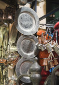 Metal dishware shop — Stock Photo