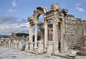 The temple of Hadrian, Ephesos, Turkey — Stok fotoğraf