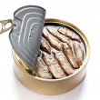 Tinned Sardines — Stock Photo
