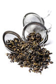 Green Gunpowder tea. — Stock Photo