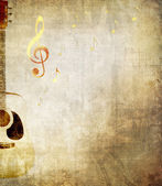 Grunge music background — Stock Photo
