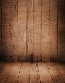 木の部屋のインテリア — ストック写真