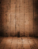 Wood room interior — Stock Photo