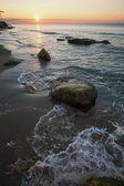 Beautiful sunset above the sea — Stockfoto