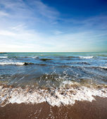 Küste strand am tag — Stockfoto