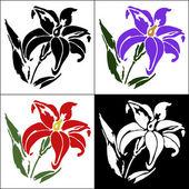 Set of flower — Stock Vector