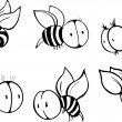 Set of bee - Stock Vector
