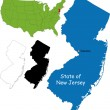 New jersey map — Stock Vector #32456489
