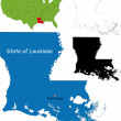 Louisiana map — Stock Vector