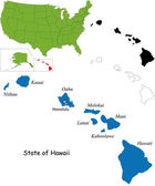 Hawaii map — Stock Vector
