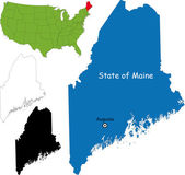 Maine map — Stok Vektör