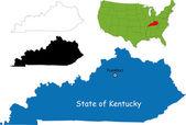 Kentucky map — Stock Vector