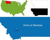 Montana map — Stock Vector