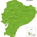 Green Ecuador map — Stock Vector #32468883