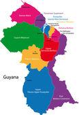 Guyana map — Stock Vector