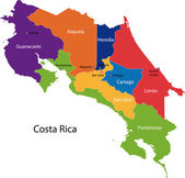 Costa Rica map — Stock Vector