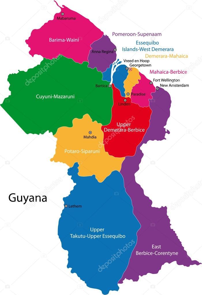 MAPA DE GUYANA | Dictionary Bank