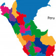 Colorful Peru map — Stock Vector #32473593