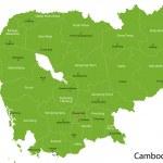 Постер, плакат: Green Cambodia map